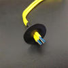 Cable Feed Through Wall Bushing Black Dual Cables